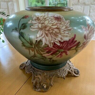 Gorgeous large antique hand painted porcelain gone with the wind GWTW lamp base