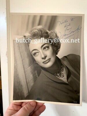JOAN CRAWFORD signed 8 x 10 PHOTO autographed 1950s