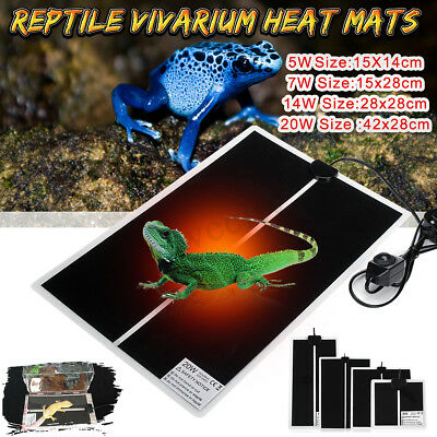 Waterproof Heat Mat Pet Supply Reptile Brooder Incubator Heating Pad Warm Heater