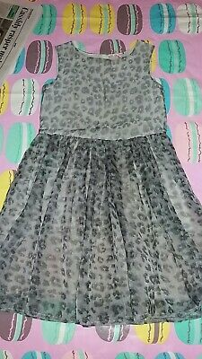 Girls used black/grey leppard print dress from Next Size 8 years old