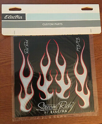 DECAL ELECTRA Bicycle STICKER SET 8 X 8 SHEET Stream Ride Flames Bike
