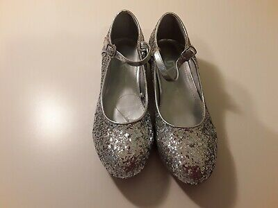 Girls Silver Sparkly party shoes size 2 BNWOT