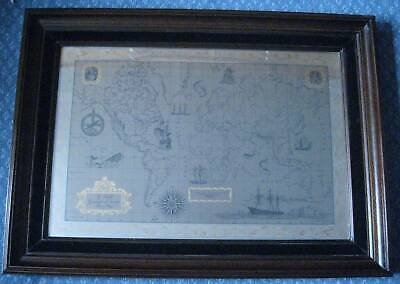 The Royal Geographical Society Stirling Silver & 24 Carat Gold Map with COA.