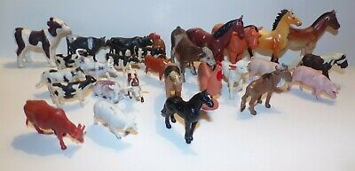 Schleich Popak New Ray Mfg Ltd Horse Cow sheep  Lot
