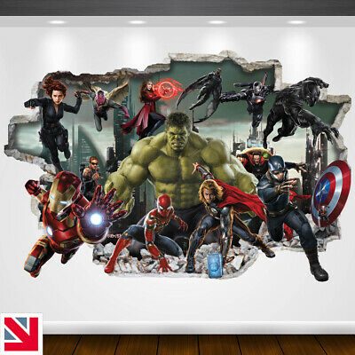AVENGERS SUPERHEROES Wall Sticker Vinyl Decal Mural Poster