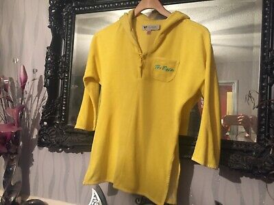 Girls Ted Baker Yellow Towel Top Age 8 Years