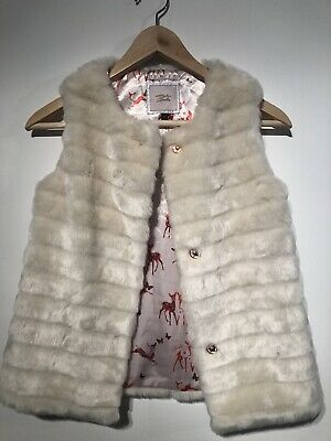 Girls TED BAKER  Faux Fur Cream Gillet Age 11 years never worn