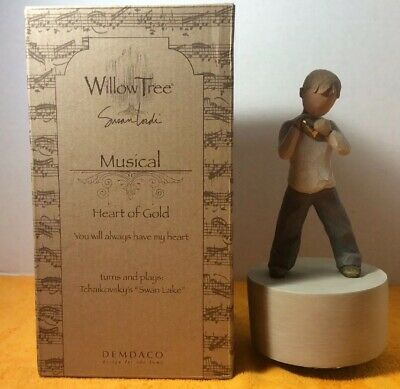 "Willow Tree Musical Heart Of Gold ""Swan Lake"" With Original Box"
