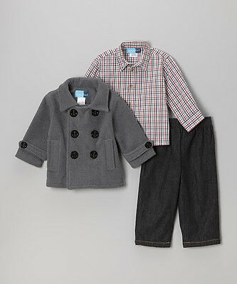 3 PIECE BOYS Peacoat jacket, Shirt & Jeans SET by Good Lad  Age 3 years BNWT