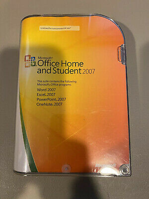 Microsoft Office Home and Student 2007 Word Excel PowerPoint OneNote