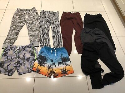 Bundle Of 6 Boys Trousers And 2 Swim Shorts Age 12