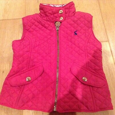 Girls Pink JOULES Gilet/Body Warmer - Age 3