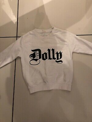 Girls White Dolly Jumper Age 5-6