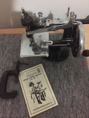 Singer Sewing Machine No.20 Antique With Instruction Booklet.