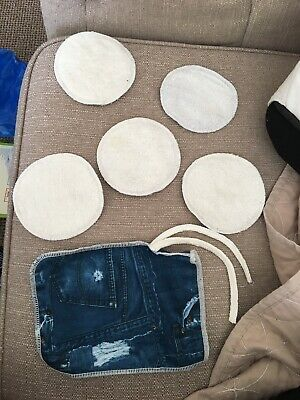 Washable Reusable Breast Pads X5 With Case