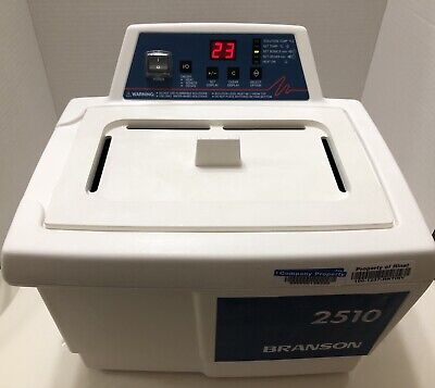 Bransonic 2510R-DTH Powerful Ultrasonic Cleaner Water Bath Tested Excellent Cosm