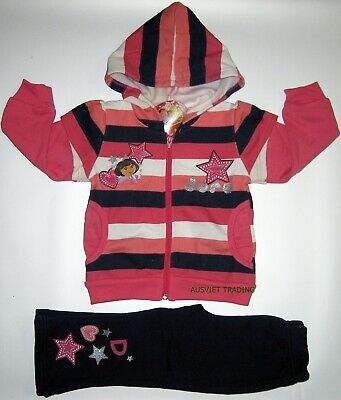 Brand new Dora Track Suit girls kids Hoodie jacket and pants outfit set size 4