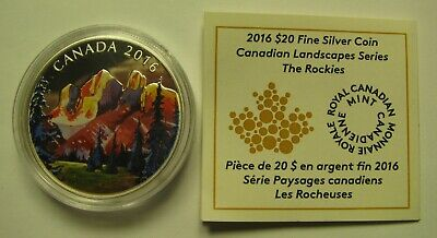 2016 Proof $20 Landscapes #1-Rockies COIN&COA ONLY Canada .9999 silver twenty do