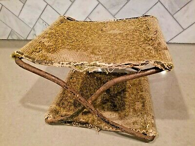 Rare antique 1895 horse drawn buggy chair.  Original embroidered seats