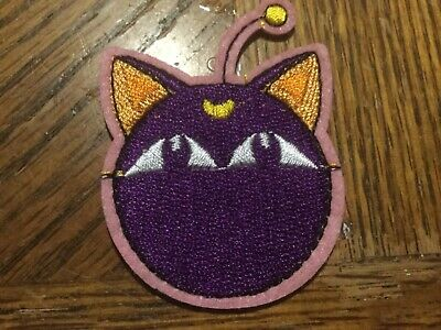 Sailor Moon Patch Black Luna Cat Embroidered Iron Sew on Badge Applique 3.5 Inch