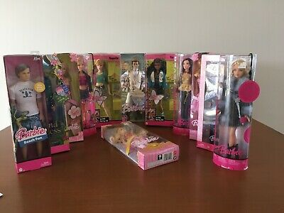 Vintage Bulk LOT Mattel Barbie Ken Dolls - Fashion Fever Fantasy Tales Diaries
