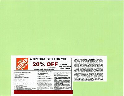 **1** 20% OFF HOME DEPOT Competitors Coupon at Lowe's exp 07/31/20