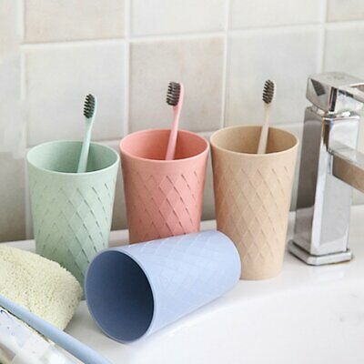 Rhombus Cups Home Couples Cups Drinking Cups Toothbrushes Cups Reusable Cupღ1AB