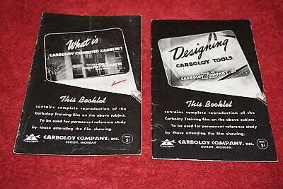 (5) 1942 Carboloy Company Training Film Guide Booklets