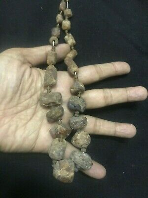 Lovely Sumerian Abnormal Shape Stone Ancient Antique Strand Bead Necklace
