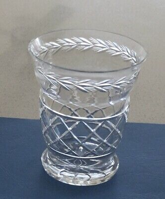 Vase...vintage Crystal..fine Glass...antique ? Cut Crystal Vase