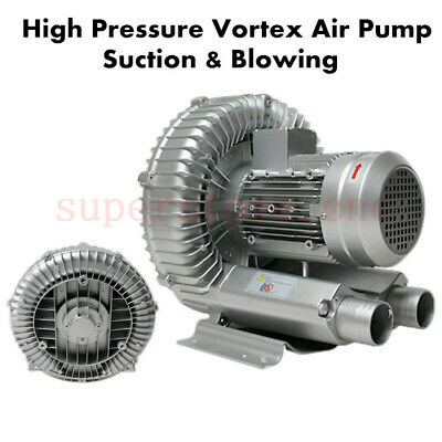 180W High Pressure Vortex Fan Air Blower Vacuum Pump Ventilation 1 Phase 220V