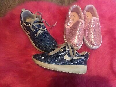 Girls Sparkly Nike And Primark Shoes Bundle Size 7 Infant