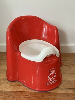 Baby Bjorn Potty Chair Toilet Training Red