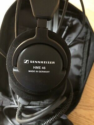 Sennhiser Aviation Headset HME46 with XLR5 Plug and Padded Headset Bag Good Cond