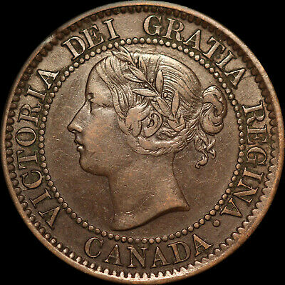 "1859 Queen Victoria Large Canadian Cent With D/P T in Cent ""HAVE A LOOK""!!!!!!!!"