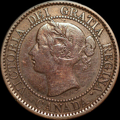 """1859 Queen Victoria Large Canadian Cent With D/P 9 In Date  """"HAVE A LOOK""""!!!!!!!"""
