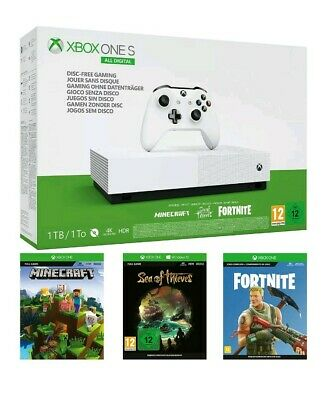 Xbox One S All-Digital Console -  Minecraft/Sea Thieves/Fortnite