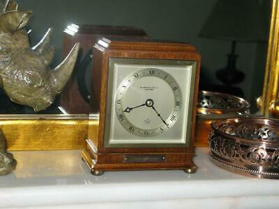 Vintage Edwardian Style Oak Case Presentation Mantle Clock H L Brown Sheffield