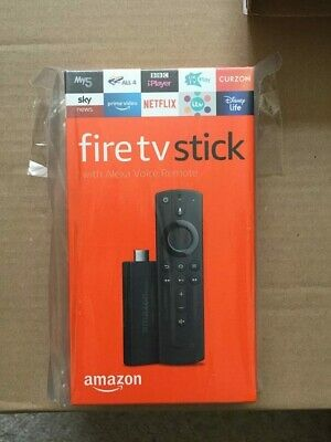 Amazon Fire Stick TV UK with Alexa Voice Remote (2019) BNIB Latest UK Model New