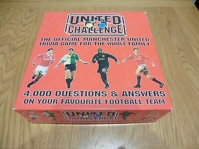 Manchester United Vintage 1994 Official Challenge Trivia Board Game