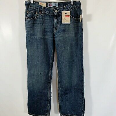 Levis 550 Boys Jeans 10 Husky Relaxed Fit Tapered Leg Dirty Fade Color NEW 30X26