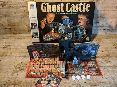 Vintage Ghost Castle Board Game 1985 MB Games VVGC COMPLETE retro family.
