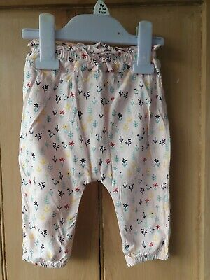 Baby Girls Mini Club Pink Hareem Style Trousers 3-6 Months Excellent condition
