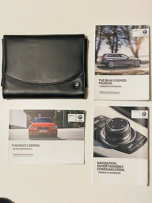 Bmw 3 Series Touring F30 F31 2012 2015 Owners Manual Wallet Audio I Drive