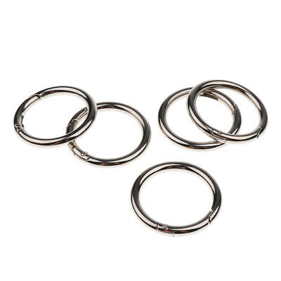 5 Packs Key Rings Premium Push Gate Snap Plated Open Hook Key Chain 40mm
