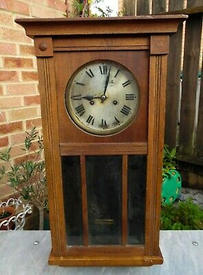 Vintage Cased Oak (?) H.A.C. Wurttemberg Clock for Spares or Repair