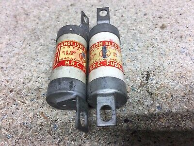 2 x English Electric TIA 30 Off Set Bolted Tag BS88 Fuse 30 Amp