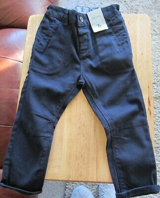 Tu Boys Navy Jeans Size 1 1/2 - 2 Years (86/92 Cms) New With Tag