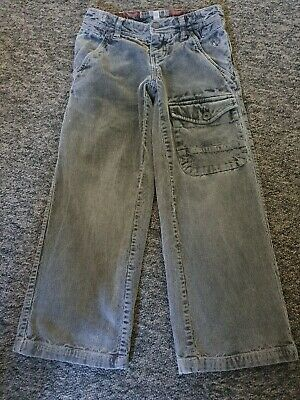 Boys Fat Face Grey Distressed Cord Trousers Age 7