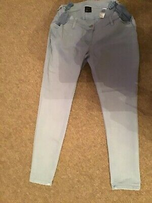 Next Maternity Light Blue Under Bump jeans size 10 short good condition